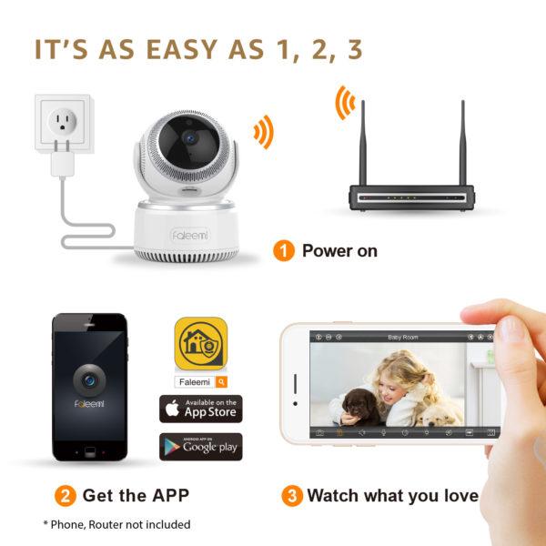 1080P PTZ Wireless IP Camera (FSC882)